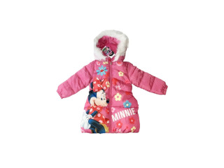 Geaca de iarna roz Minnie Mouse Flowers