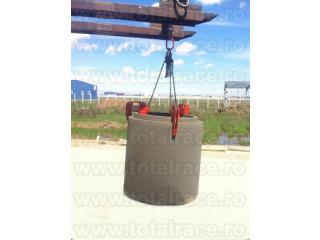 Dispozitive de lant cu clesti pentru transport pe verticala a caminelor de beton