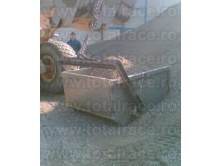 Bena pentru macara cu autodescarcare Cupa basculabila Bene metalice deseuri