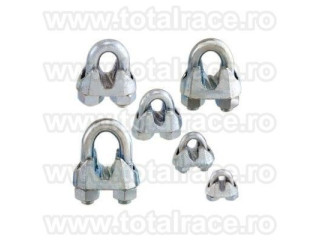 Bride-cleme de prindere cablu, din otel zincat, pentru cablu otel