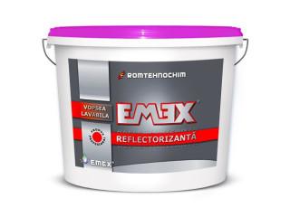 Vopsea Lavabila Reflectorizanta EMEX - Necesita perle reflectorizante