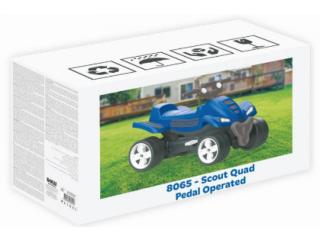 ATV cu pedale Dolu, maxim 35 kg, 57 x 85.5 x 48 cm, Albastru