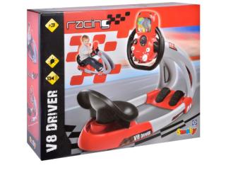 Simulator auto pentru copii V8 Smoby, 2 viteze