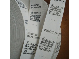 Etichete textile ignifugate